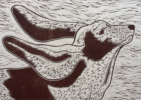 Summer Breeze.  Linoprint